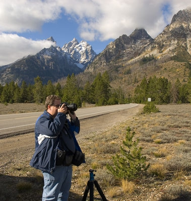 Andy in the Tetons