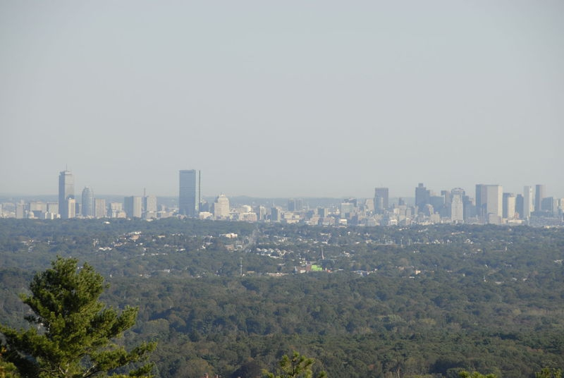 Boston Skyline from Eliot Tower - Blue Hills Reservation