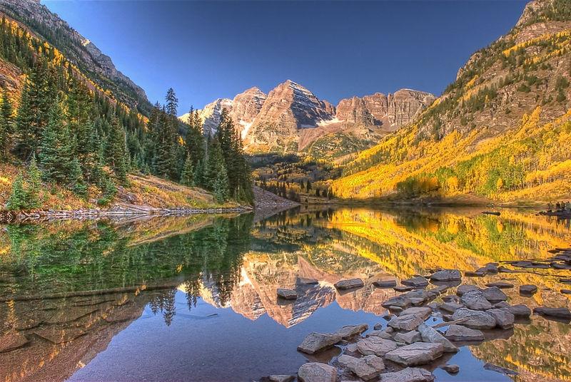 Fall in Colorful Maroon Bells Colorado