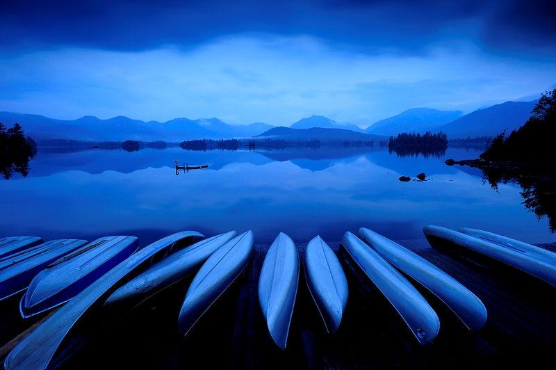 Morning Twilight over Elk Lake