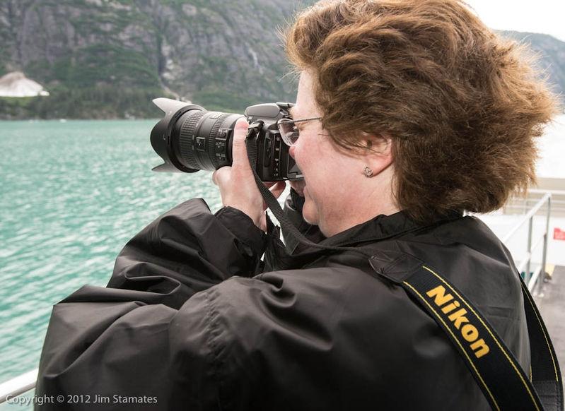 Darlene shoots Nikon