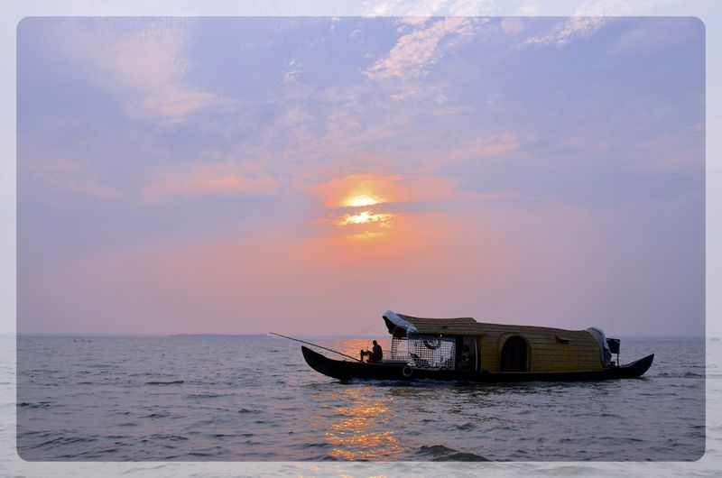 Kerala Houseboat at Sundown