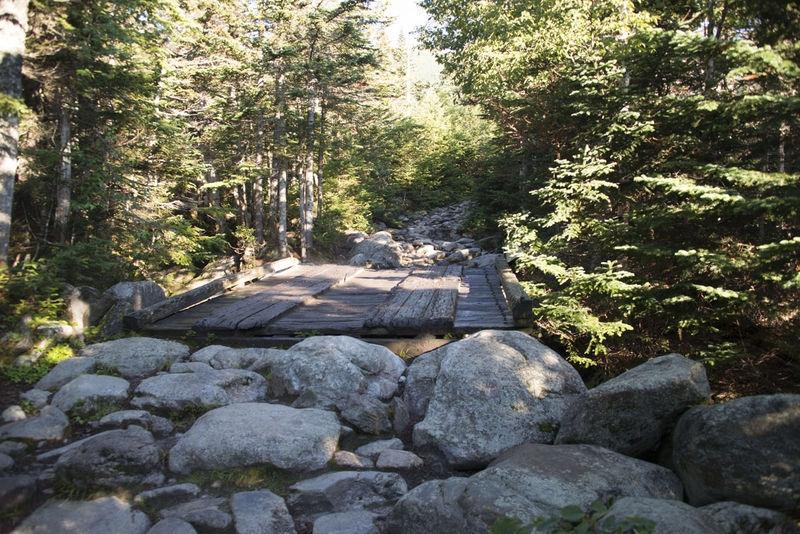 Wooden Bridge on Tuckerman  Ravine  Trail