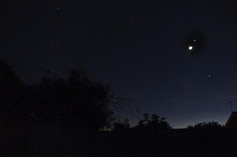 Moon Venus Jupiter Orion