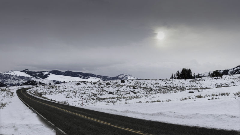 A Yellowstone Road in Winter