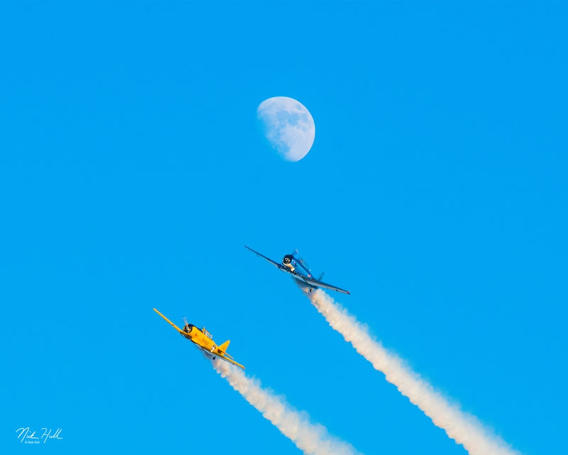 Planes and Moon