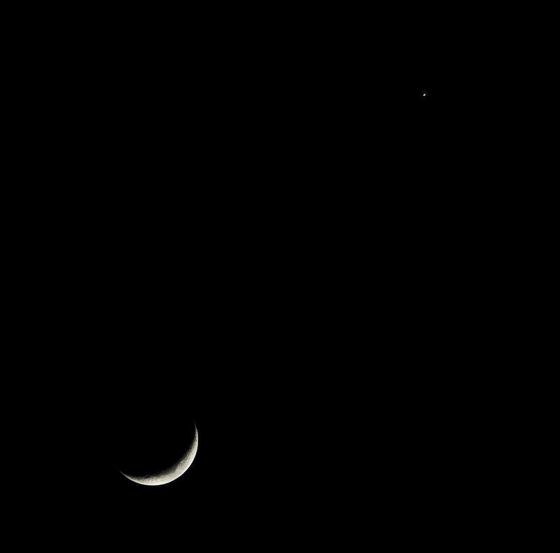 Moon with Venus