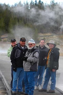 Nikonians at Norris Geyser Basin, Yellowstone