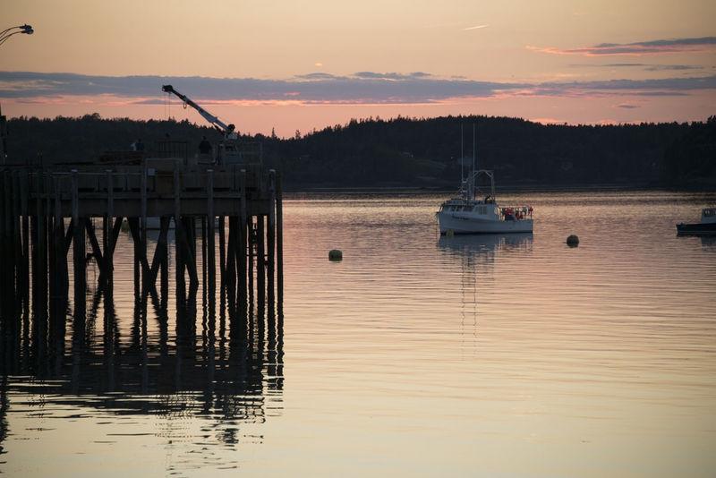 Lubec Harbor, at Sunset