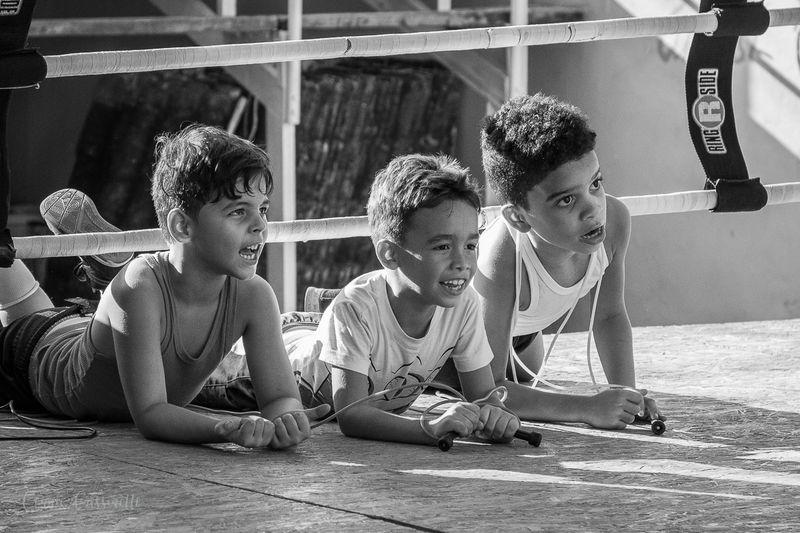 Boys at Boxing Club, Cuba