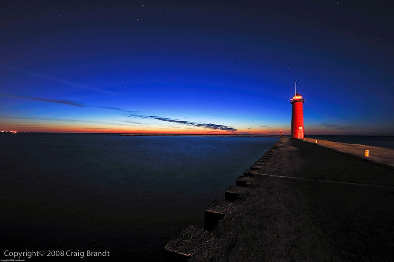 Kenosha Lighthouse Light Painting