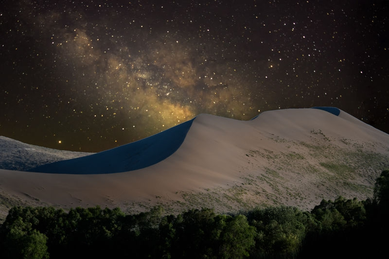 Composite from last summer of Milky Way over Sand Dune