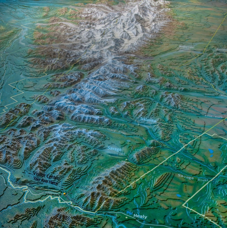 3D Park Map in Visitor Center