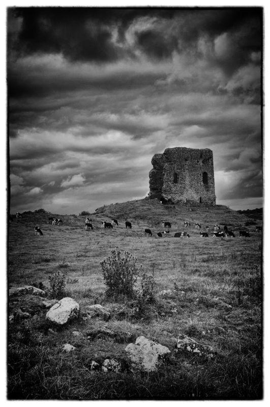 Castle Ruins, Irish Landscape