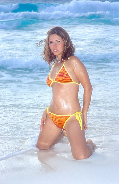 Jackie in the beach