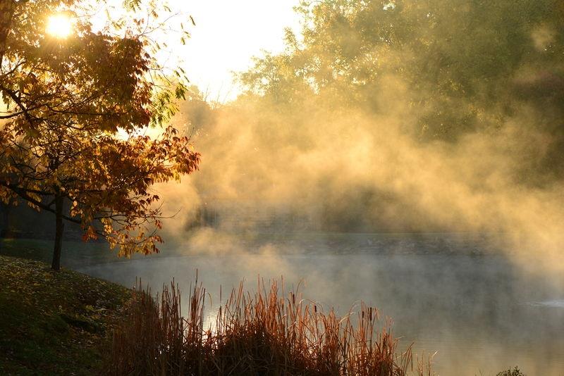 Sunrise over Symmes Park