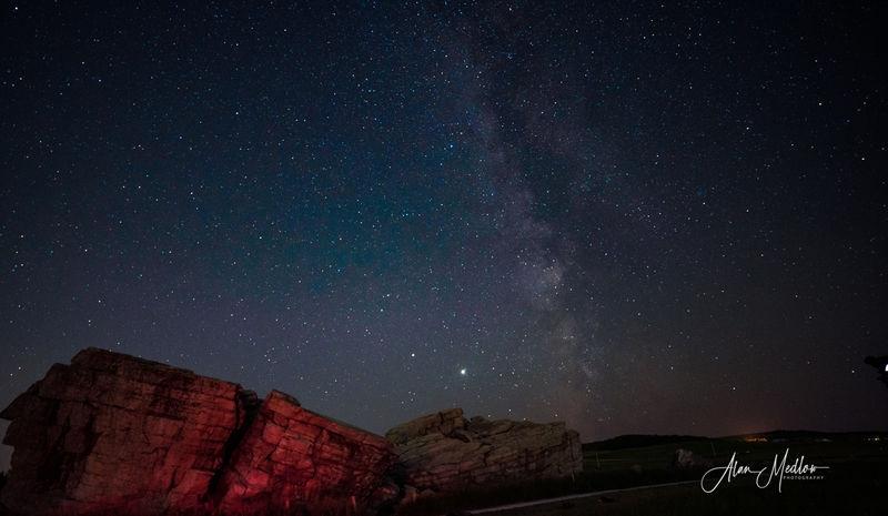 Milky Way at Erratic Rocks