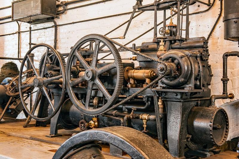 Folsom Powerhouse. Control Wheels