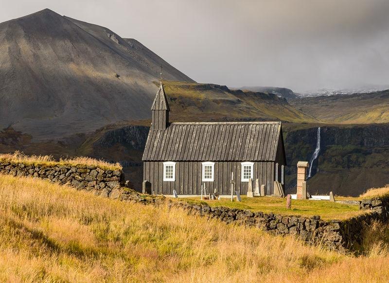 Iceland: church at Budir