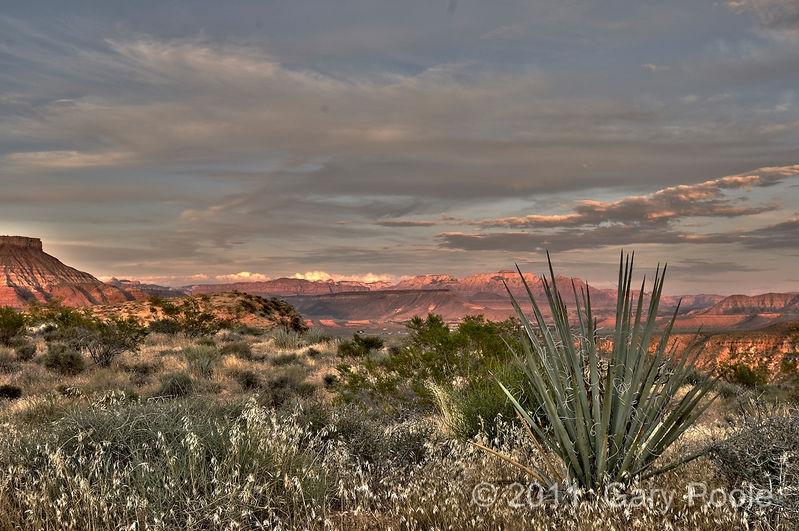 Sunset at La Verkin Overlook - 1