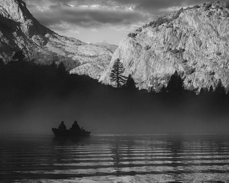 Dawn on Gull Lake, Eastern Sierras
