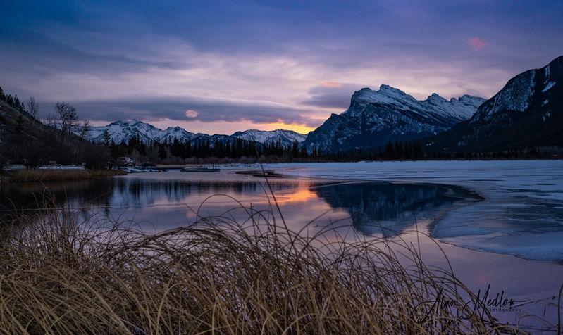 Sunrise on Vermillion Lakes