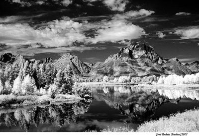 Oxbow Bend  IR reflections