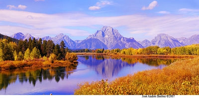 Oxbow Bend Panorama reflections