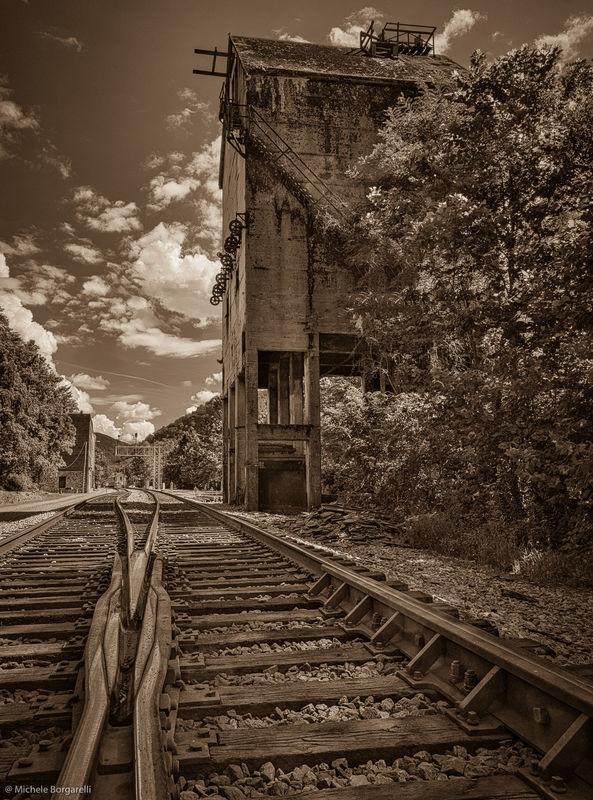 Thurnmond coal tower, WV, USA