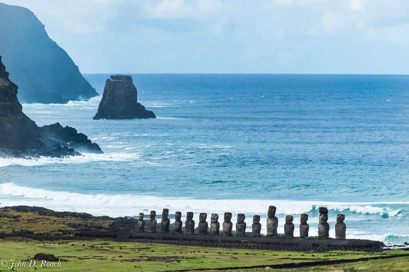 Ahu Tongariki on South Shore, Easter Island