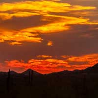 Photographing Superstition Mountains, Arizona