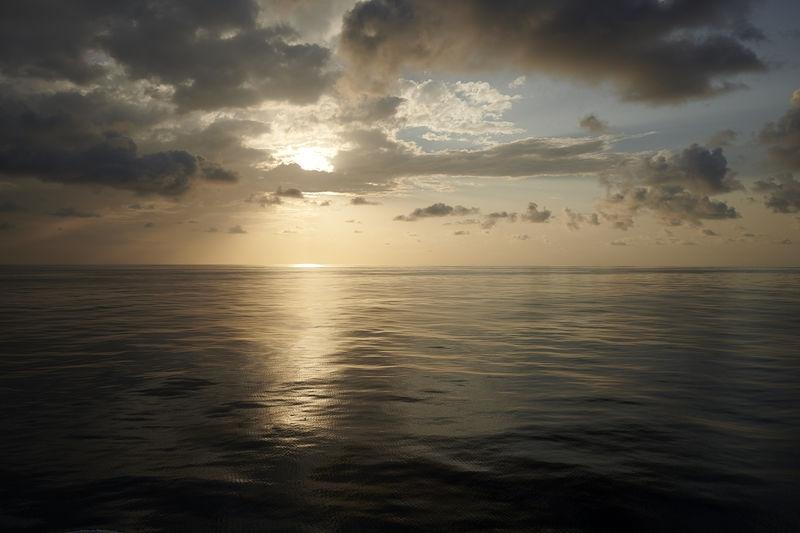 Equator sunset