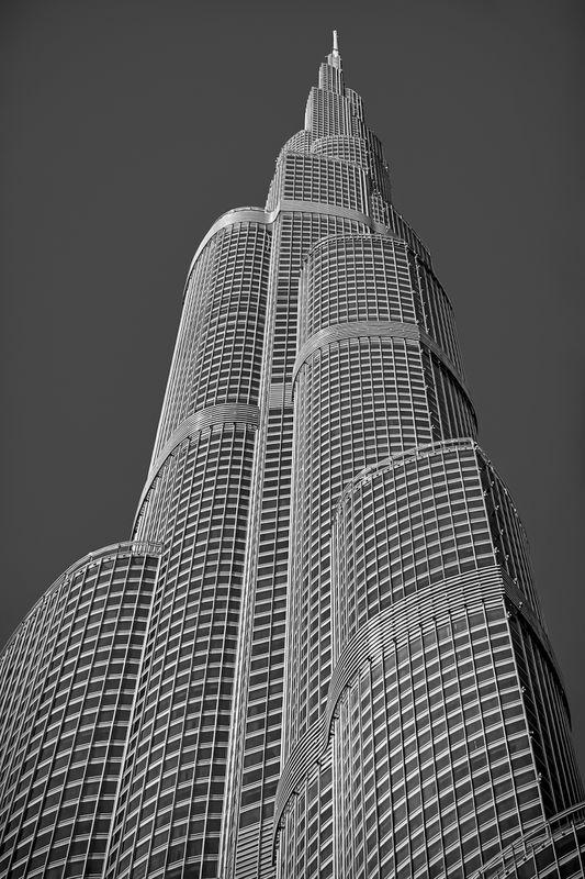 Closeup of Dubai's Behemoth Burj Khalifa
