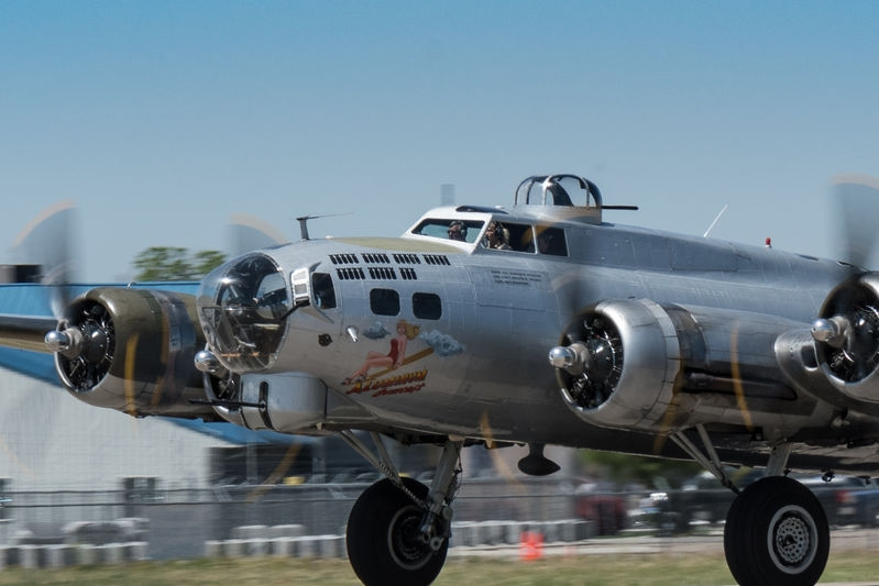 B-17 on take off roll