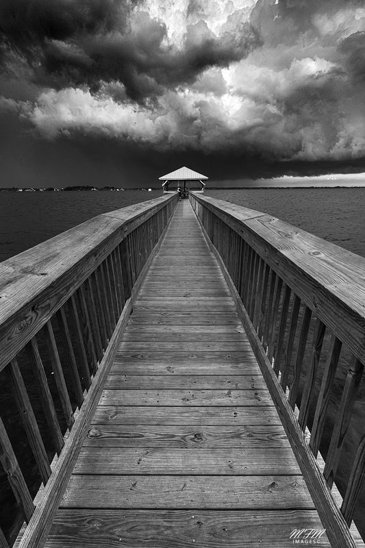 November Contest - B&W Landscape with Man Made Things - Bananna River Pier