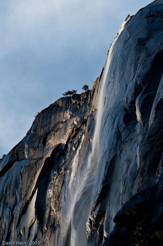Horsetail Falls w/o fire-light