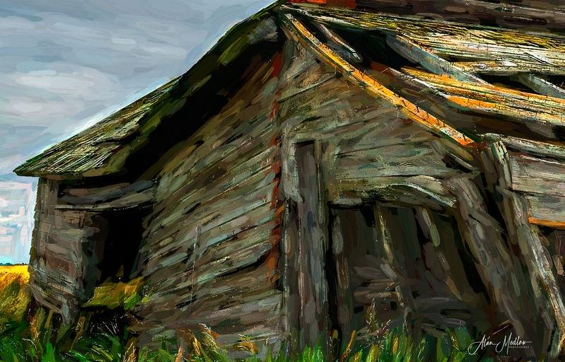 Stylized shack
