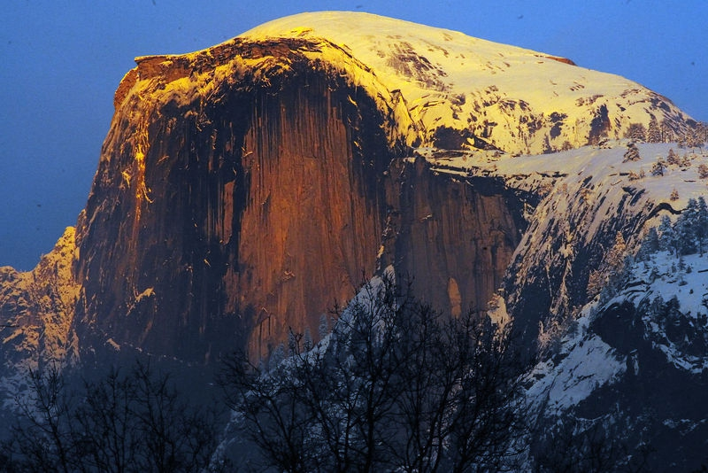 Half Dome Sunset from Curry Village