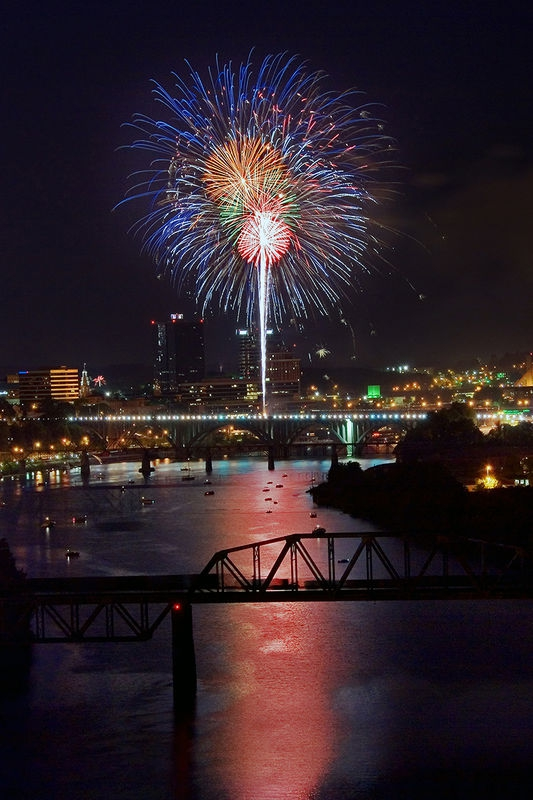 Fireworks Over The Tennessee River
