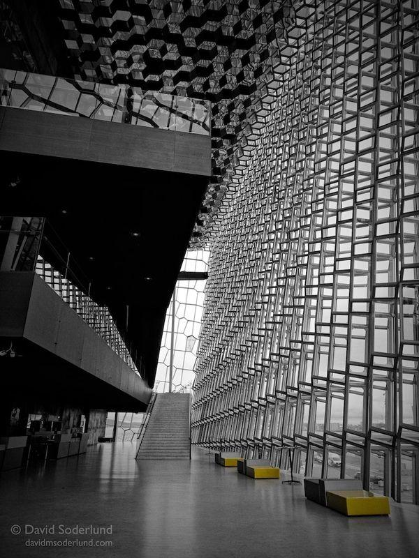 """Reykjavik concert hall (""""Harpa"""") interior"""