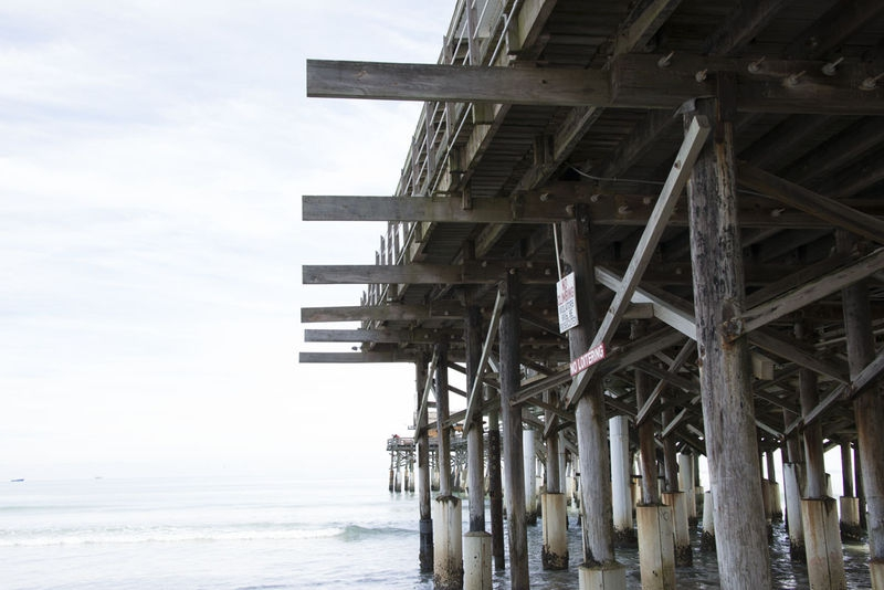 Wood Construction - Cocoa Beach Pier, FL