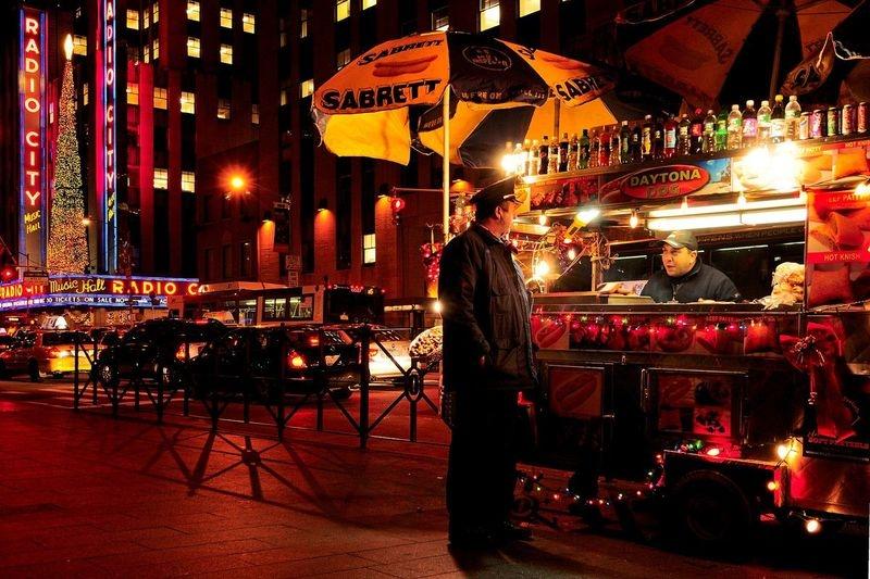 Night-Time Street Snack, NYC