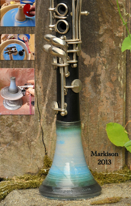 Eb Clarinet Bell; handthrown porcelain