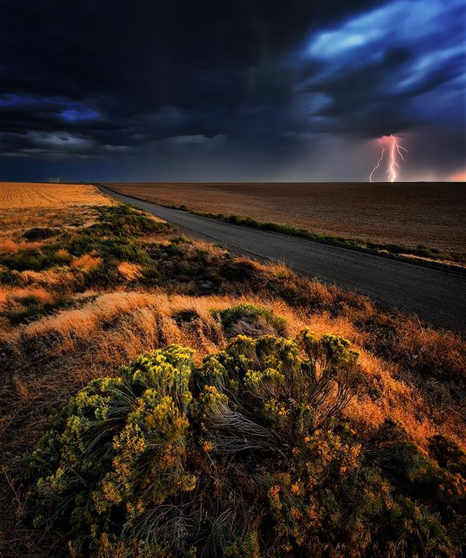 Thunderstorm at Sunset