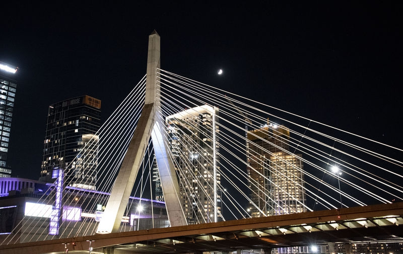 Zakim Bridge at Night