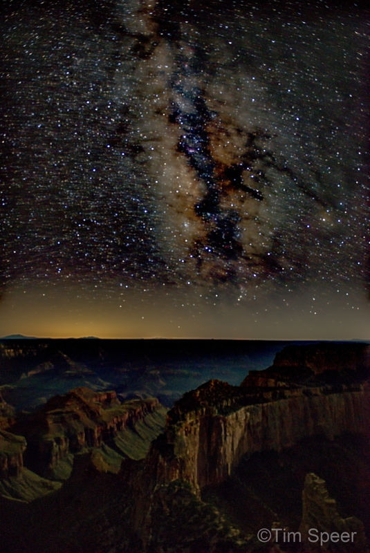 The Milky Way Over Cape Royal