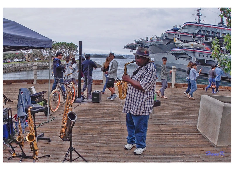 Haunting Sax echoes the dock