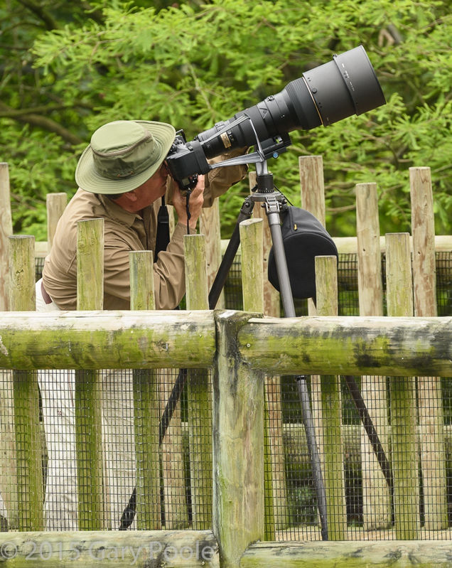 Charters with one of his big lenses