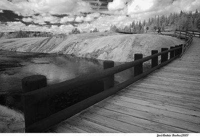 bridge over Yellowstone River