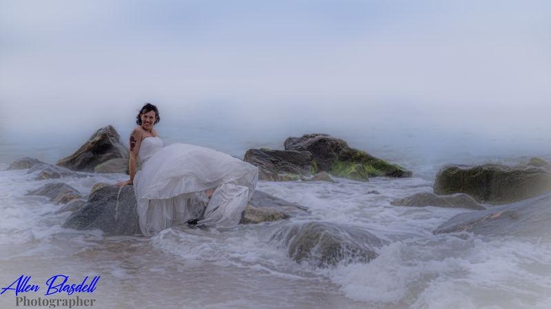 Bride Gets Wet!